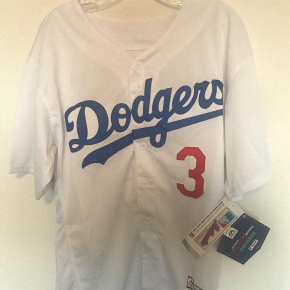 official photos 1c6bb aeff9 Chris Taylor Los Angeles Dodgers majestic Jersey NWT